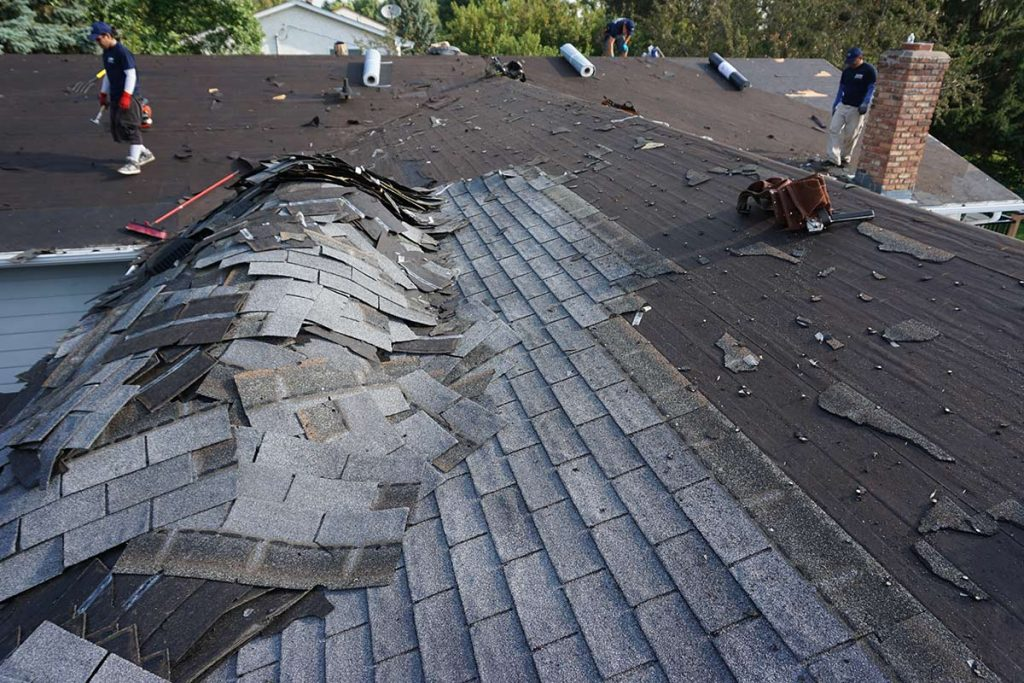roof replacement service, damaged roof repair